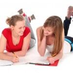 Young women doing homework — Stock Photo #28274159