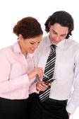 Dois trabalhadores de escritório jovem — Foto Stock
