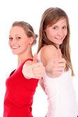 Women giving OK gesture — Stock Photo