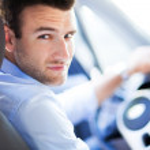 Man driving a car — Stock Photo #29540523
