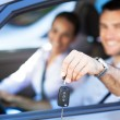 Couple with car keys — Stock Photo #29540589