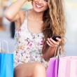 Stock Photo: Attractive womshopping