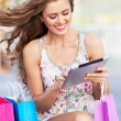 Young woman using digital tablet — Stock Photo #30099237