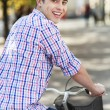 Mriding bike in city — Stock Photo #33434501