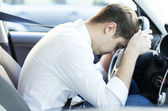 Exhausted driver resting — Stock Photo