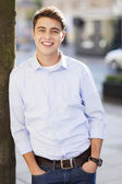 Young guy smiling — Stock Photo