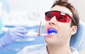 Dentist ultraviolet light equipment — Stock Photo