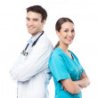 Friendly Male and Female Doctors — Stock Photo