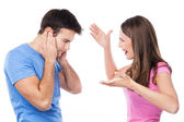 Angry couple arguing — Stock Photo