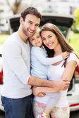 Familie im freien — Stockfoto