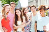 Group of young friends — Stock Photo