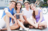 Happy young friends — Stock Photo