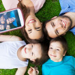 Family taking picture of themselves — Stock Photo