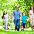 Young Family Having Fun In Park — Stock Photo #49076313