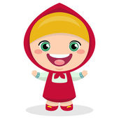 Funny cartoon russian girl — Stock Vector