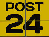 Post office sign — Stock Photo