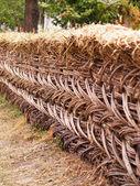Straw fence — Stock Photo