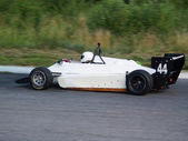 Racing car on the track — Stock Photo