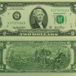 Stock Photo: Two dollars bank note