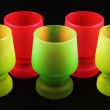 Colorful shot glasses — Stockfoto