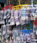 Socks and mittens made from wool — Stockfoto