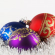 Christmas tree decoration balls — 图库照片
