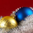 Christmas tree decoration balls — Stock Photo