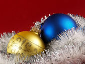 Christmas tree decoration balls — Photo