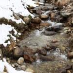 Зимние горная река — Стоковое фото