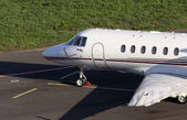 Hawker 900XP business jet on the parking — Stock Photo