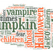 Halloween word cloud - Stock Photo