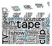 Video clapper board — Stock Photo