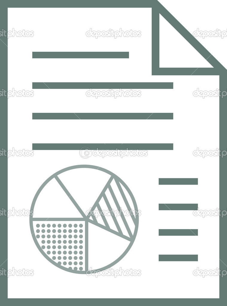 Report Icon With Chart Elements — Stock Vector © utclab ...