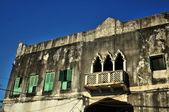 石镇建筑细节、 桑给巴尔岛、 非洲 — 图库照片