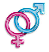Male and female gender symbols — Stock Photo