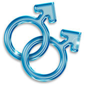 Gay symbol — Stock Photo