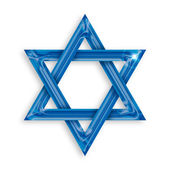 Blue hexagram — Stock Photo