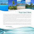 Layout with tropical landscape — Stock Photo