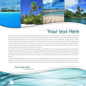 Layout with tropical landscape — Stockfoto