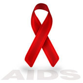 Aids red ribbon — Stock Photo