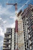 Skyscraper under construction — Stock Photo