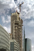 Skyscraper under construction — Stock Photo