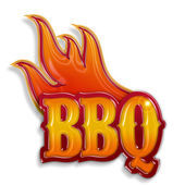 Hot barbecue label — Stock Photo