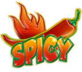 Chili pepper and blaze — Stock Photo