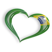 Heart with brazilian flag — Stock Photo