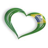 Heart with brazilian flag — Stock Photo