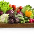 Royalty-Free Stock Photo: Wicker basket of fresh vegetables