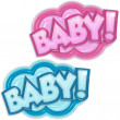 Stock Photo: Baby arrival badges