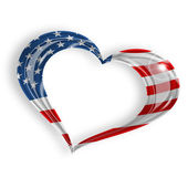 Heart with american flag — Stock Photo