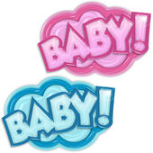 Baby arrival badges — Stock Photo